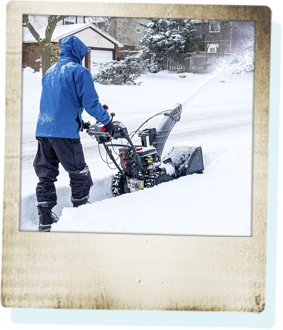 Earth Smart Property Solutions offers residential snow removal services